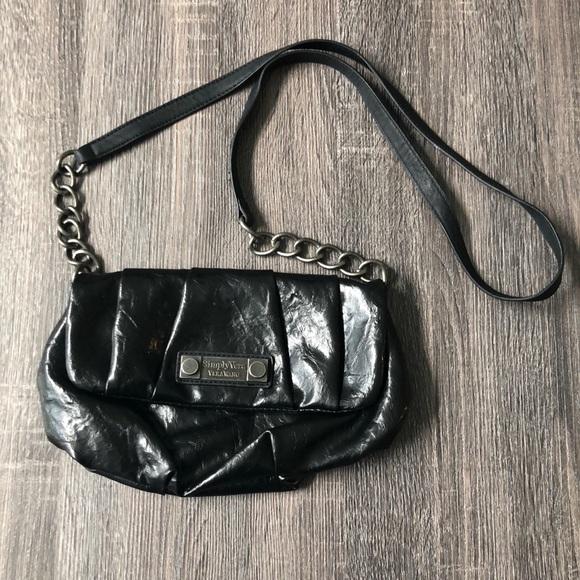 93243275a23777 Simply Vera Vera Wang Bags | Black Faux Leather Vera Wang Satchel ...
